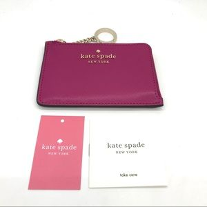 Kate Spade L-zip Key Card Wallet